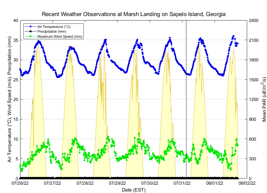 Recent Marsh Landing on Sapelo Island Weather Conditions